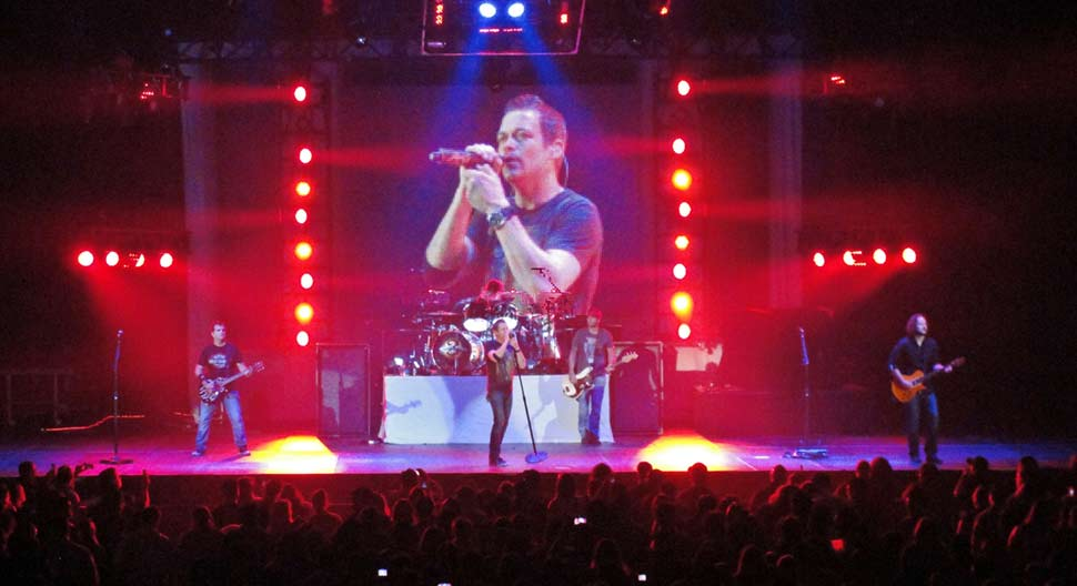 3 Doors Down lead singer kicks out fan for hitting a woman