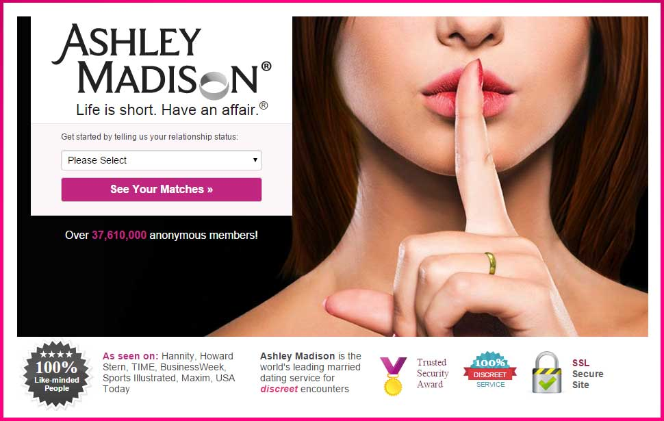 Ashley Madison, a dating site for cheaters, might have had their user's data compromised