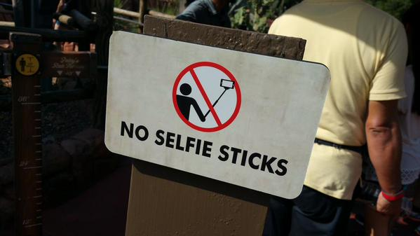 Six Flags and Disney Amusement Parks Ban Selfie Sticks in Theme Parks